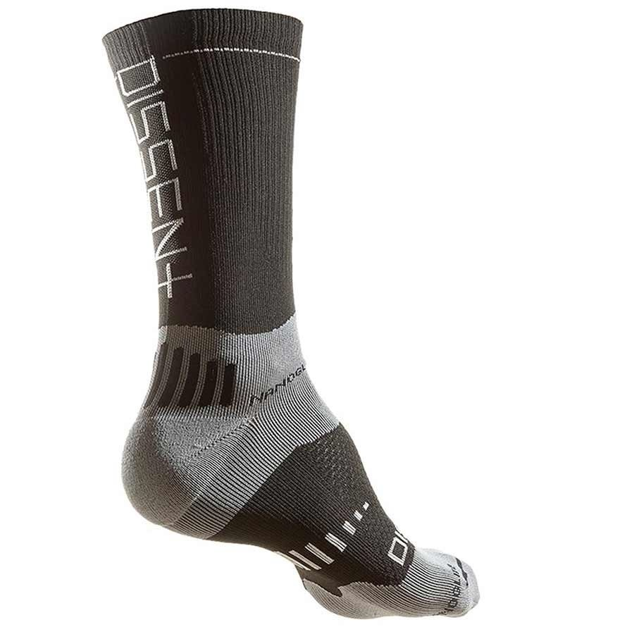 "Dissent, Supercrew Nano 8"", Compression Socks BLACK-1"