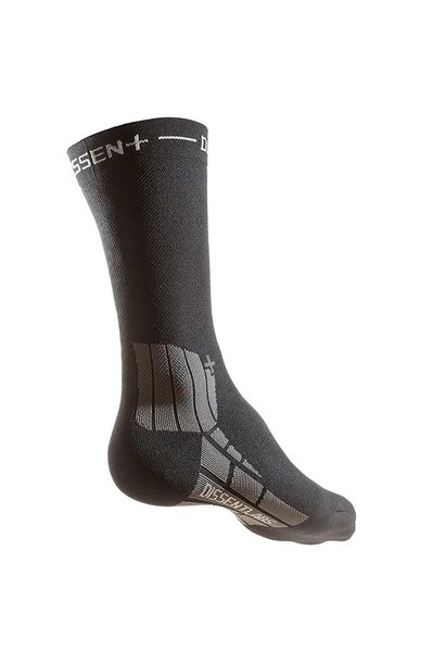 "Dissent, Genuflex Crew Protect 8"", Compression Socks, BLACK"