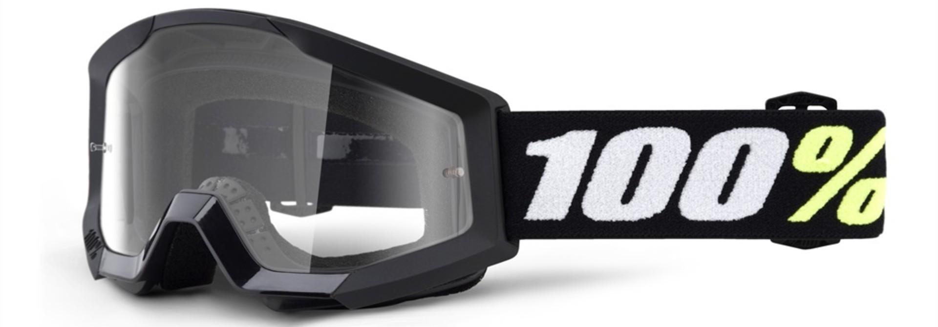 100% Strata Mini Youth Goggles Black, Clear Lens