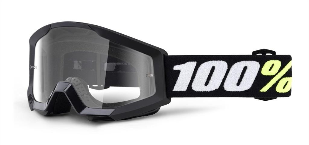 100% Strata Mini Youth Goggles Black, Clear Lens-1