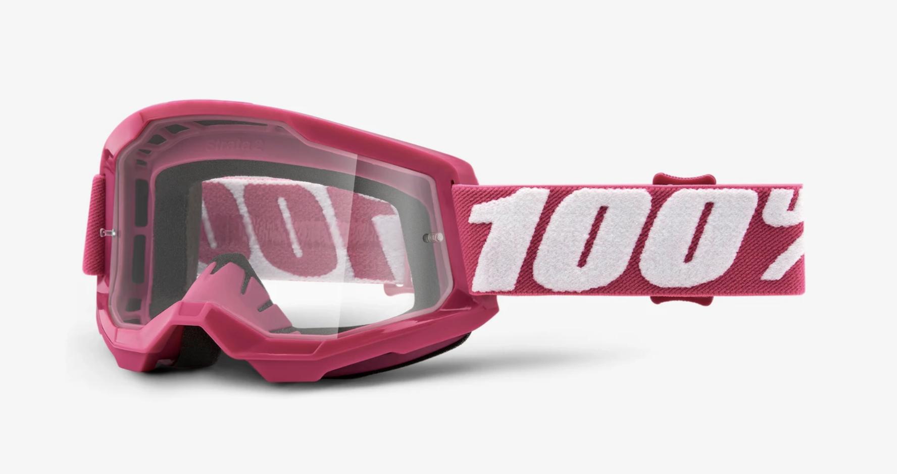 100% Strata 2 Goggle - Clear Lens-11