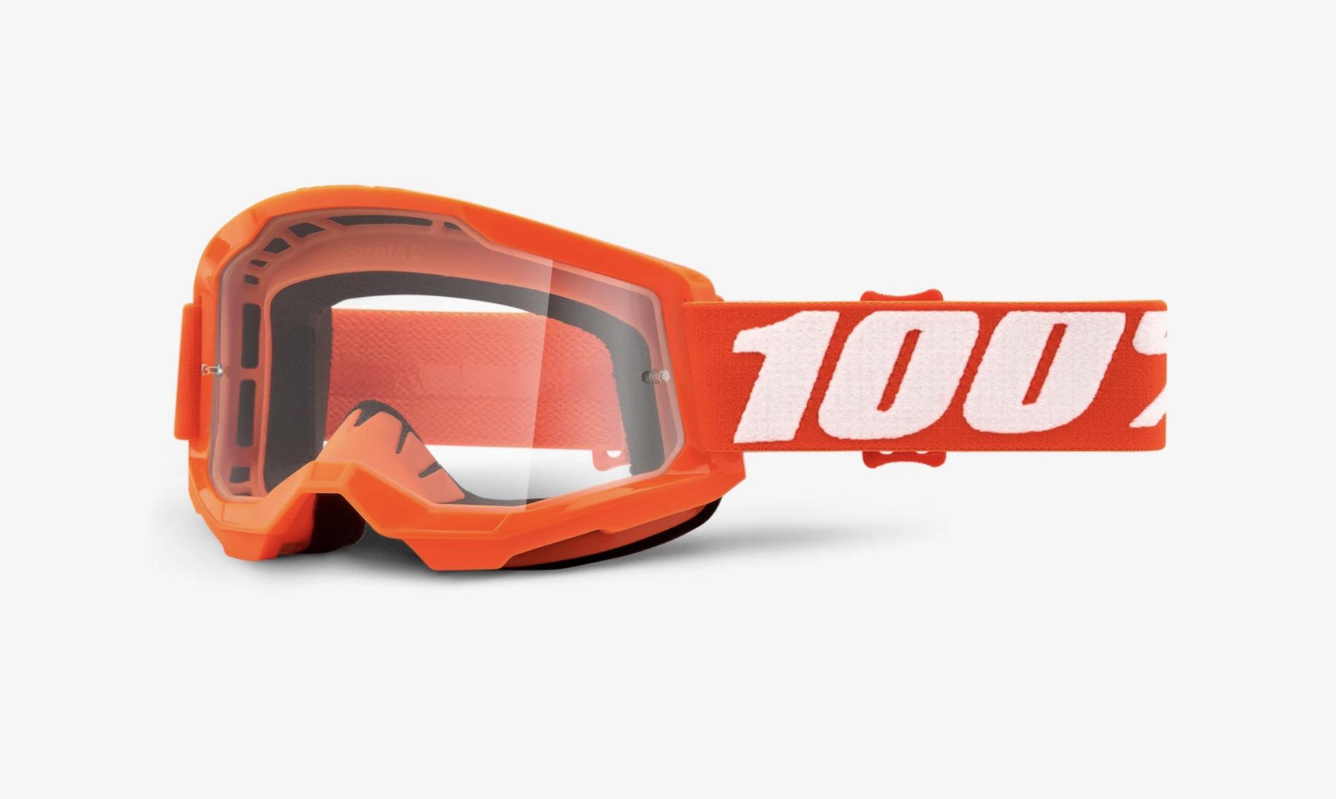 100% Strata 2 Goggle - Clear Lens-12