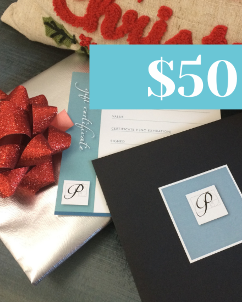 Perfection Gift Certificate  for $50