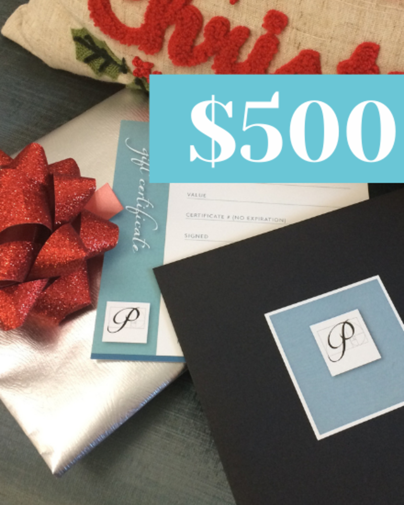 Perfection Gift Certificate  for $500