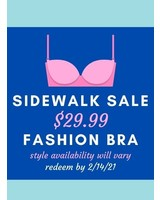 Sidewalk Sale Fashion Bra
