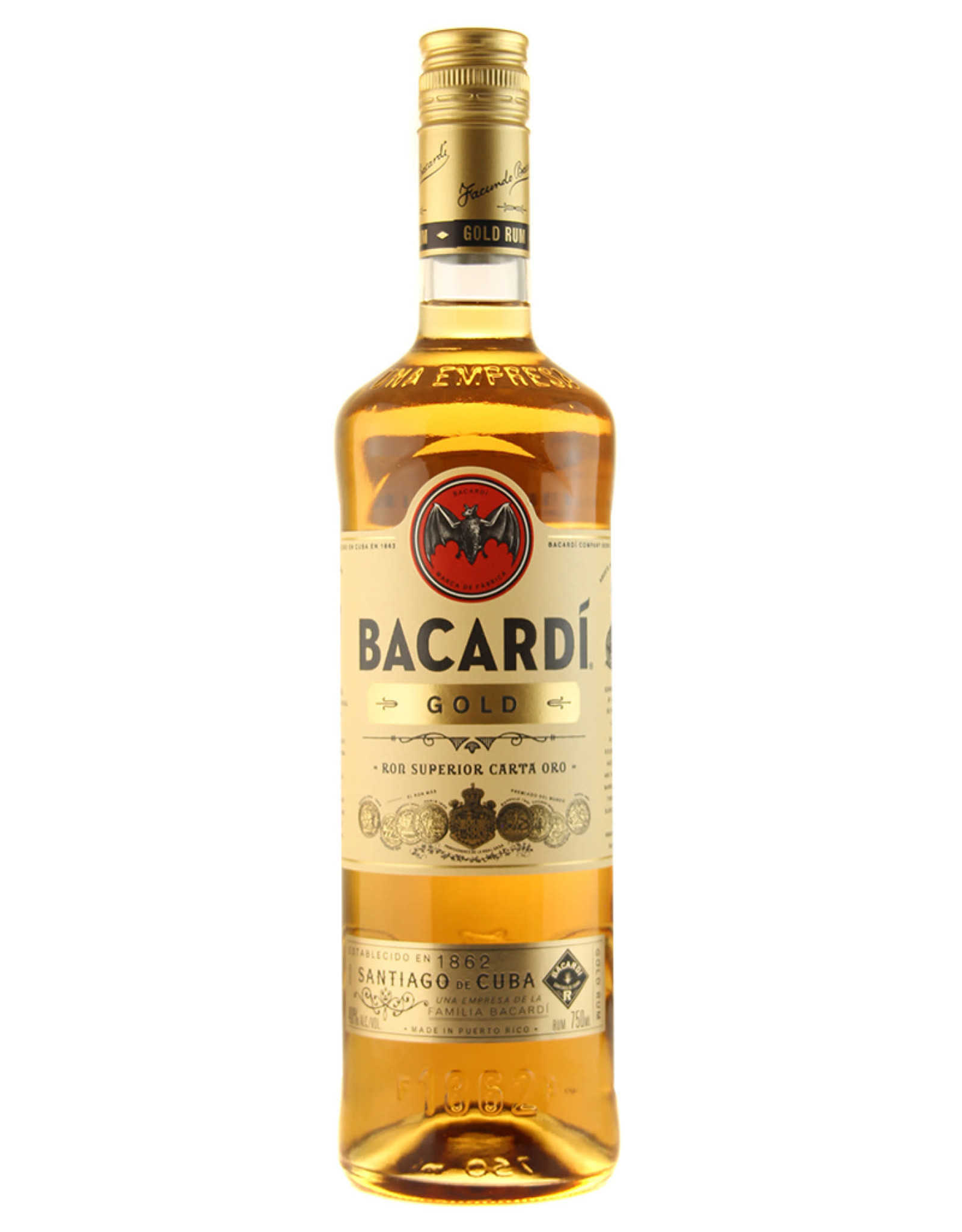 Bacardi Bacardi Rum Gold 750ML