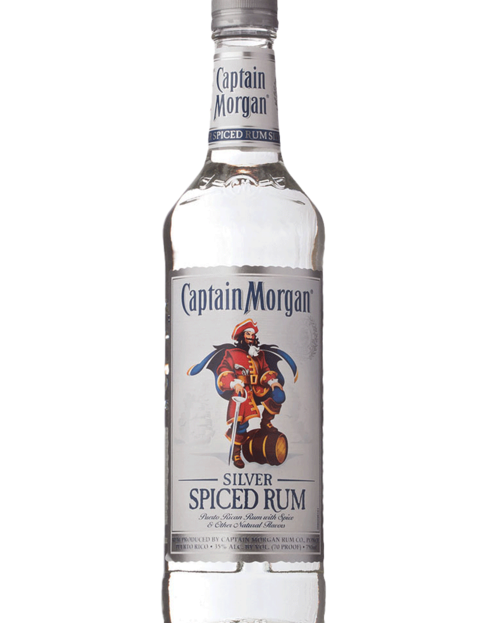 Captain Morgan Captain Morgan Spiced Rum Silver 70 750ML
