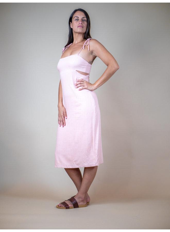 Sunset Blush Cut Out Midi Dress