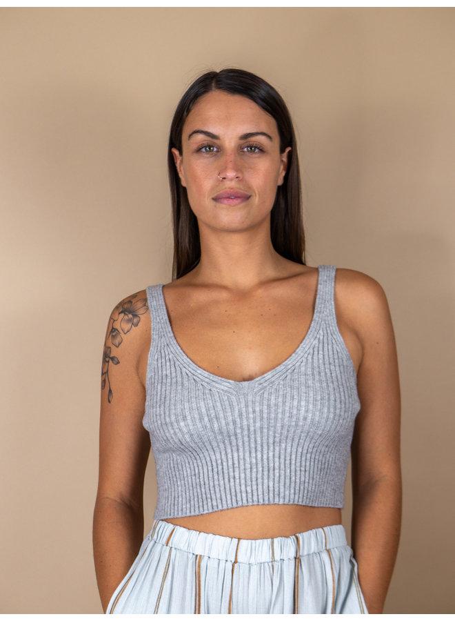 Small Talk Grey Sweater Tank