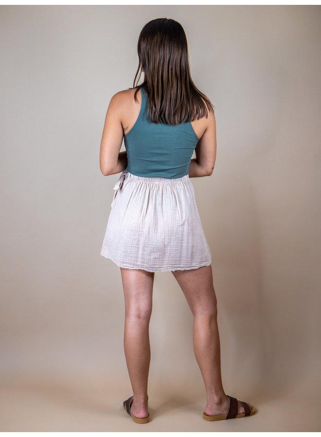 Turtle Beach Wrap Mini Skirt