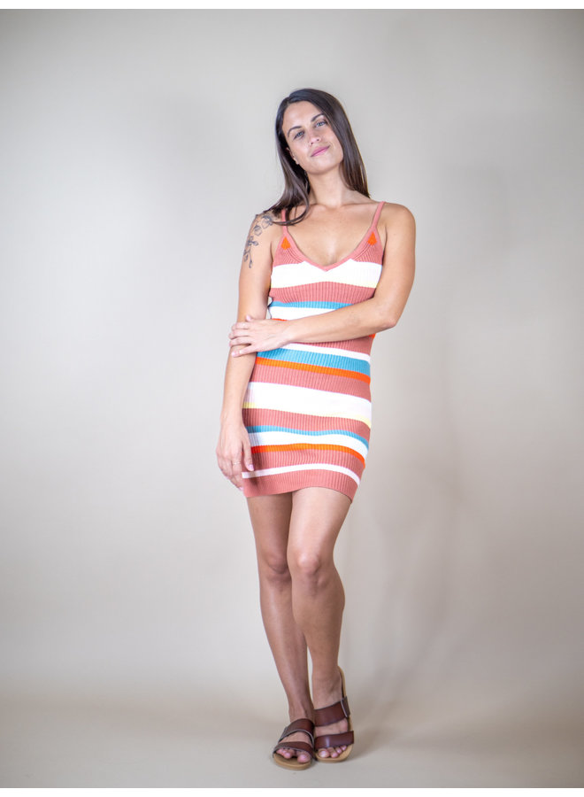 Sunset Stripe Knit Dress