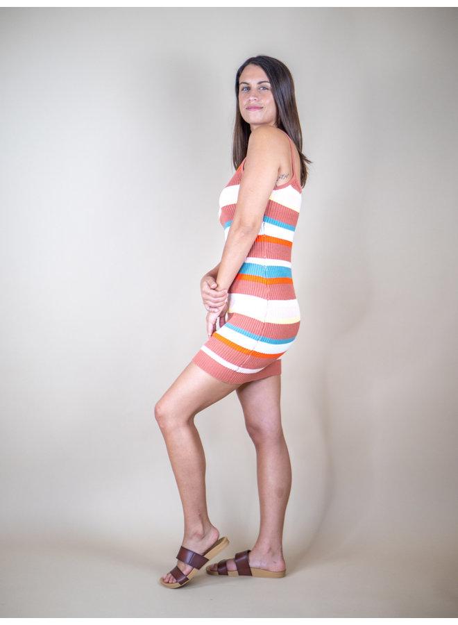 Sunset Stripe Knit Dress