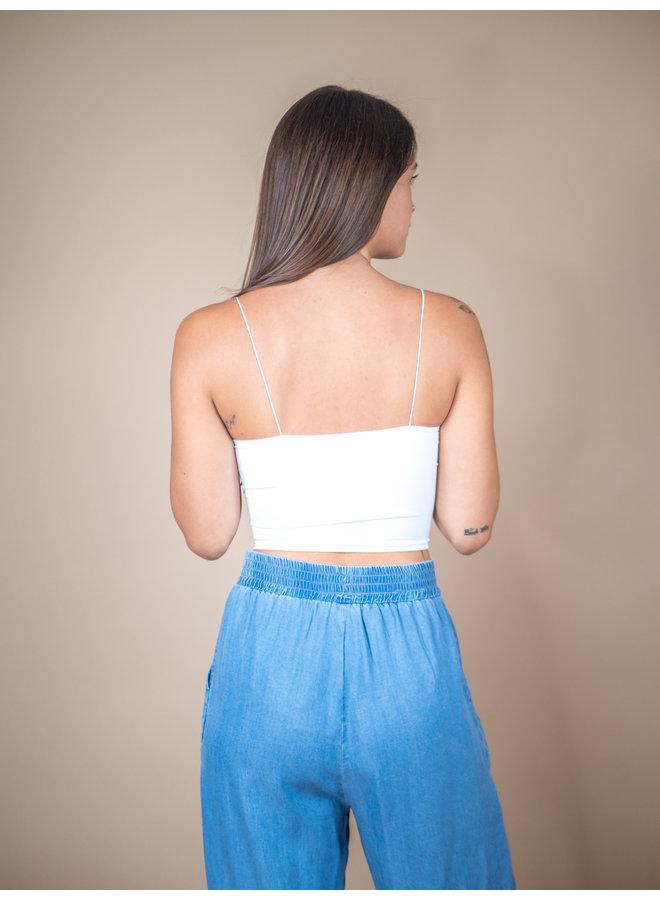 White Skinny Strap Brami