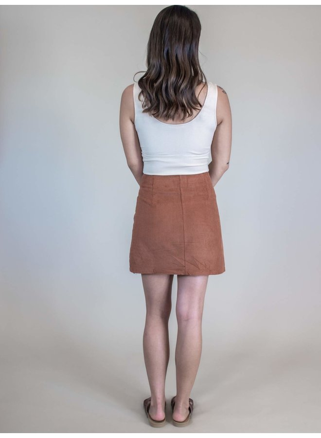 Foxy Corduroy Mini Skirt