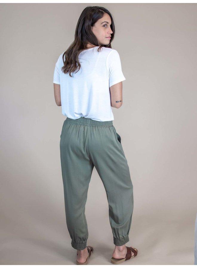 Jessica Olive Jogger Pants
