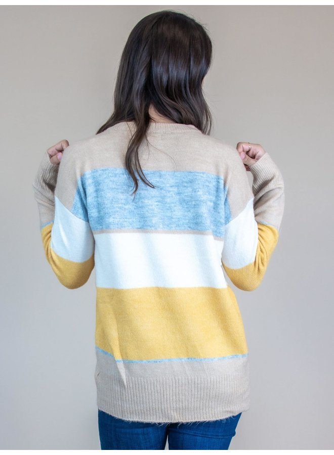 Daybreak Color Block Sweater