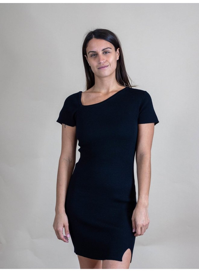 Chrissy Asymmetrical Bodycon Dress