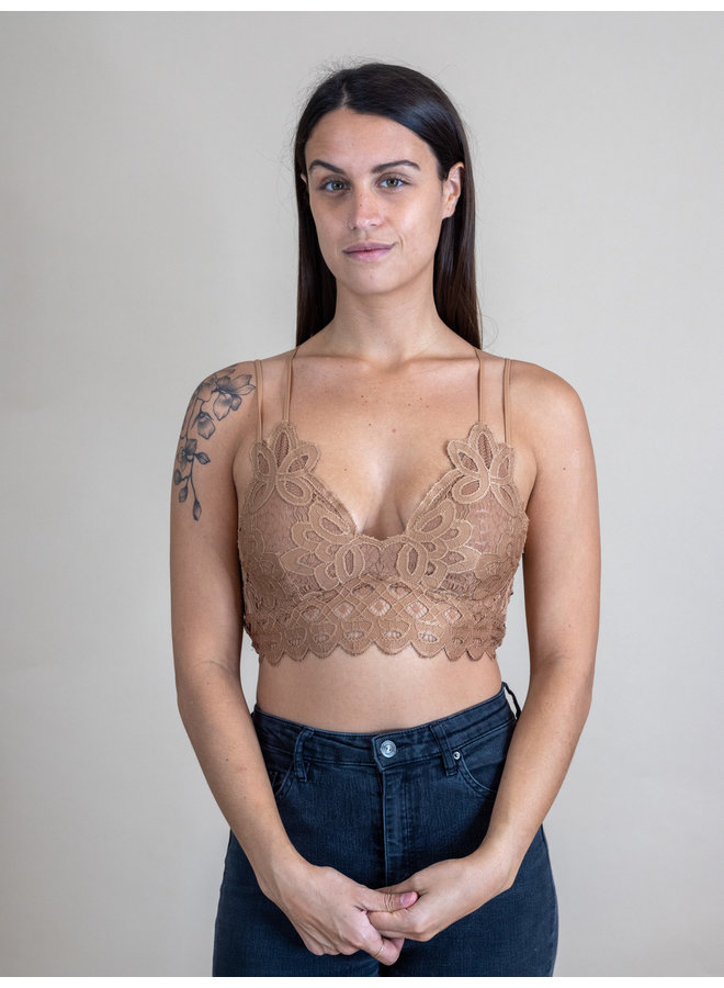 Ginger Scalloped Lace Bralette
