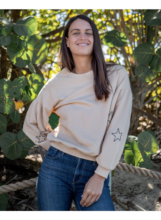 Starry Taupe Sweatshirt