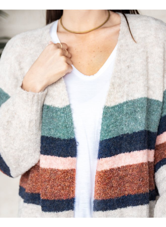 Taylor Striped Cardigan Sweater