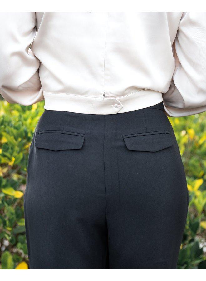 Black Pleated Pant