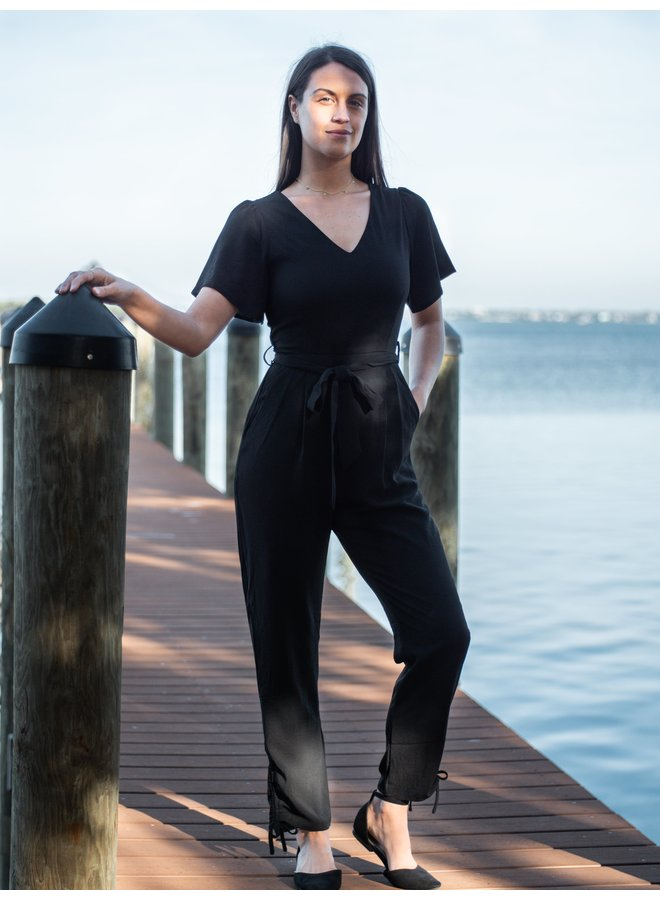 Hannah Black Jumpsuit