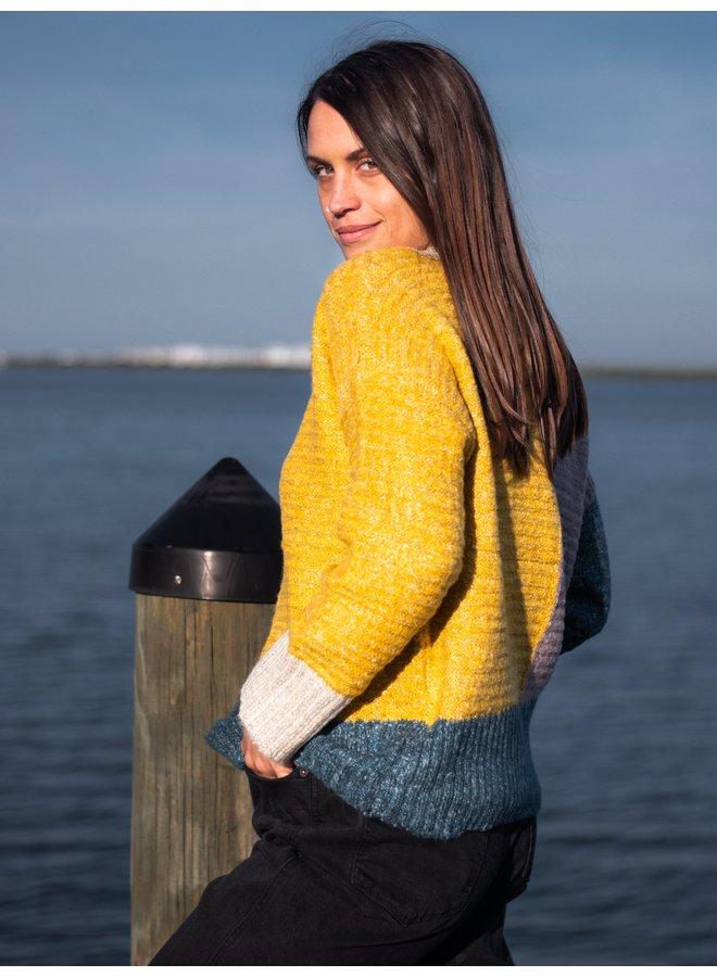 Jean Color Block Sweater