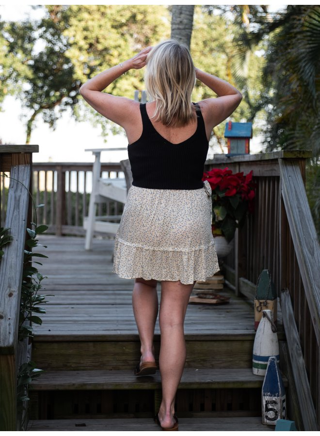 Grow with the Flow Floral Mini Skirt