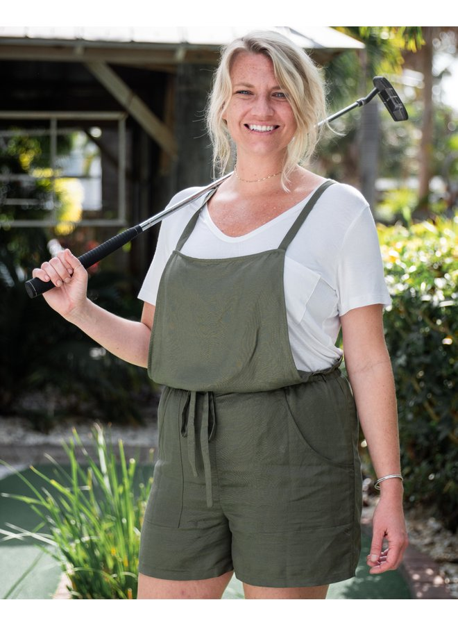Olive the Way You Move Short Overalls