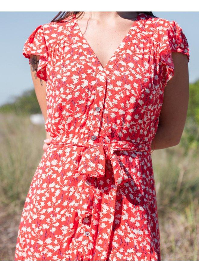 Boardwalk Floral Button Down Dress