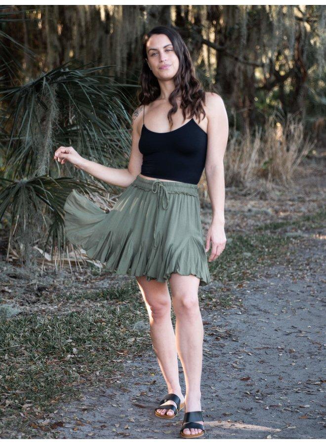 Hailey Olive Mini Skirt