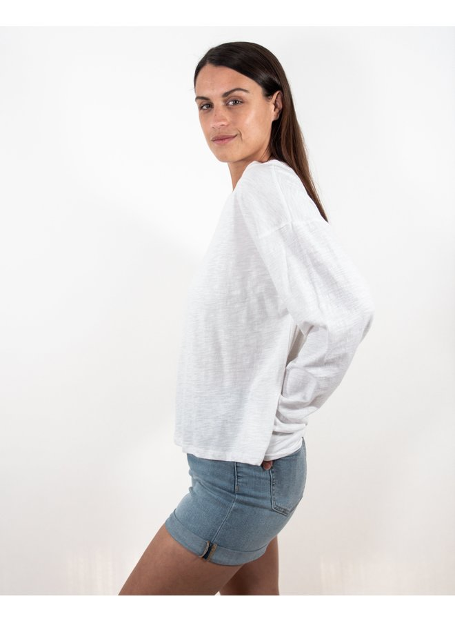 Oversize T White