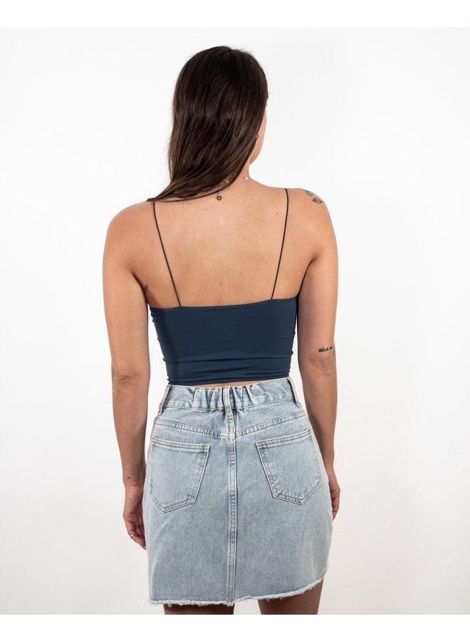 Morning Glory Denim Mini Skirt
