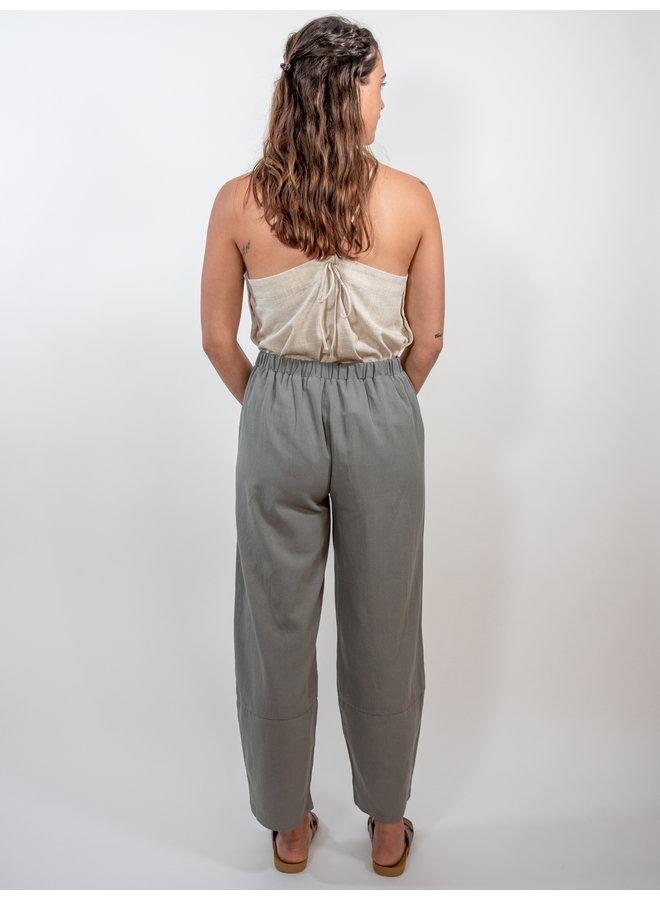 Grey Tulip Hem Pants