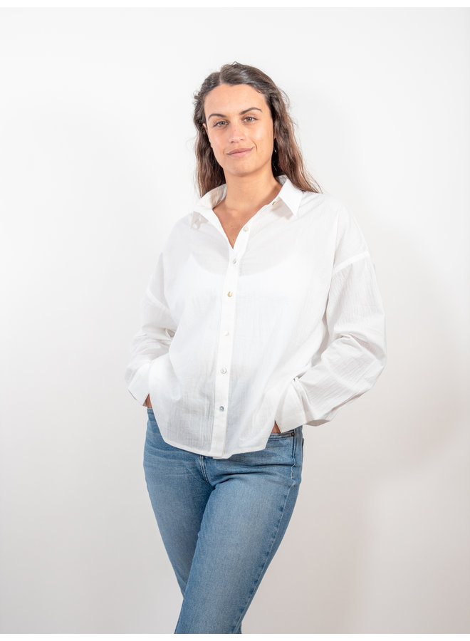 Off White Button Down Shirt