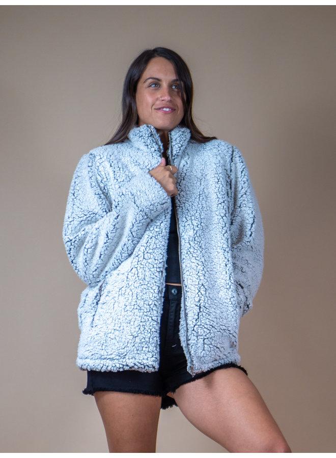 Charcoal Fuzzy Jacket