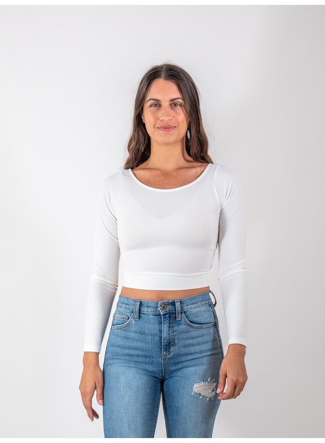 Back Cross Off White Top