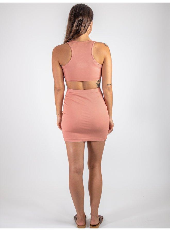 Peach Cutout Dress