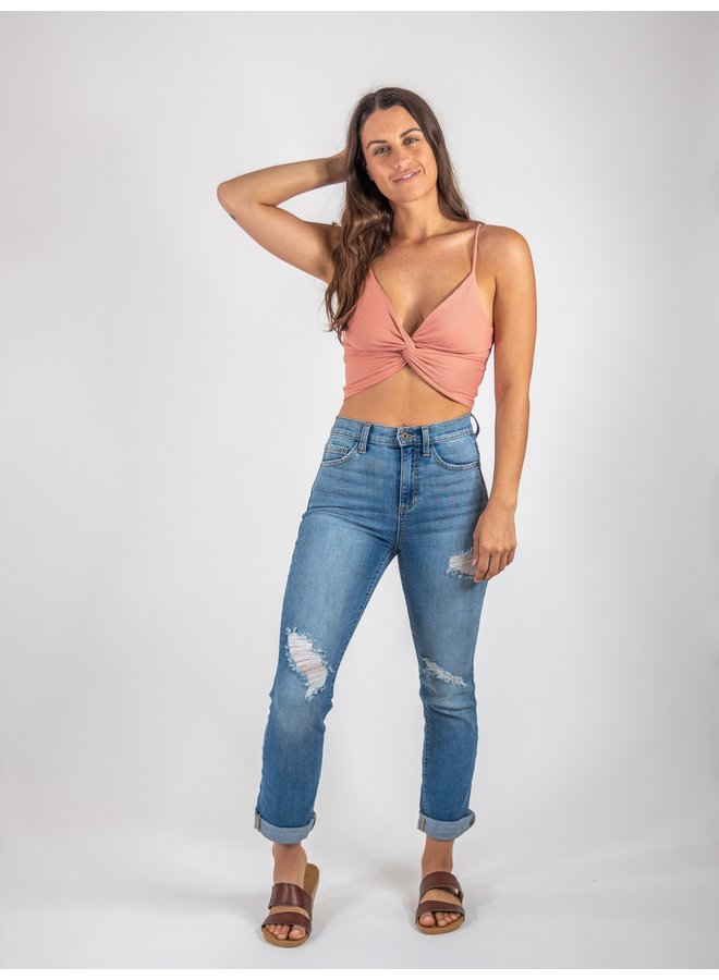 Peach Top with Knot