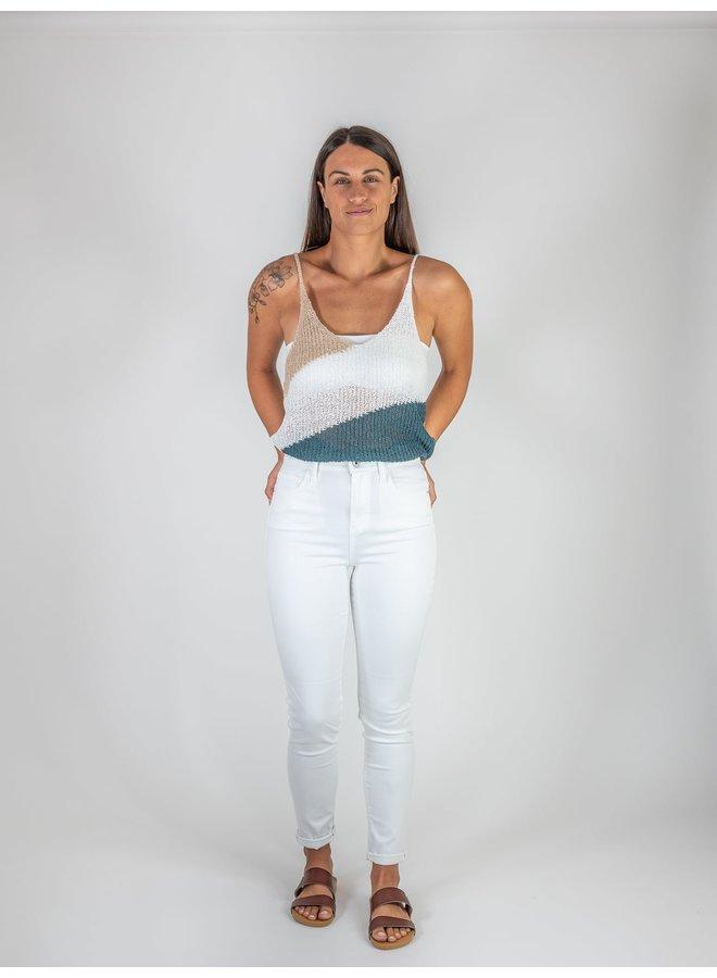 White High Rise Skinny Jeans