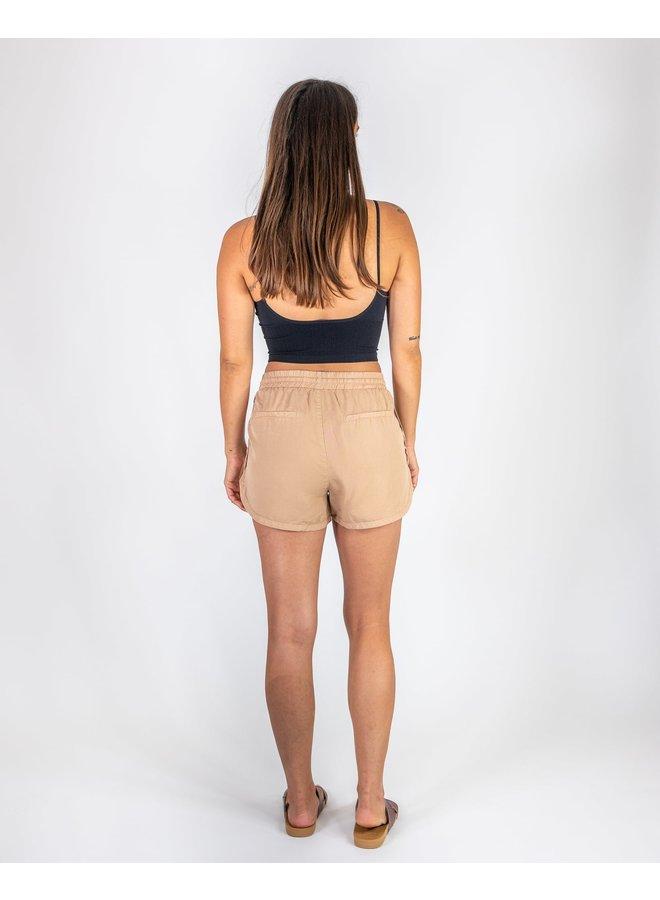 Camel Drawstring Shorts