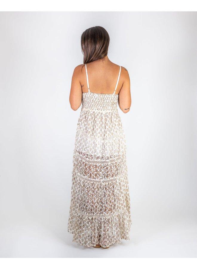 Sea Lace Maxi Dress