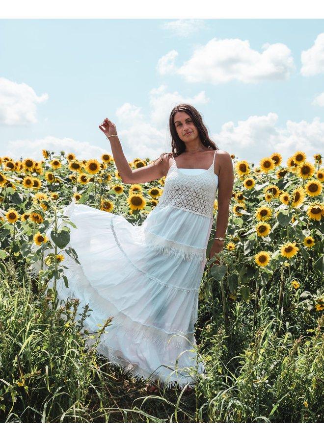 White Sundial Maxi Dress