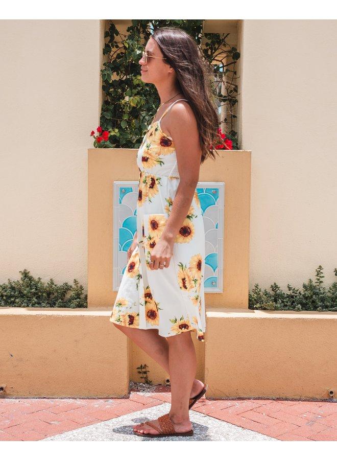 Ivory Sunflower Dress