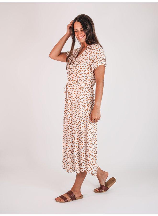 Naomi Printed Midi Dress