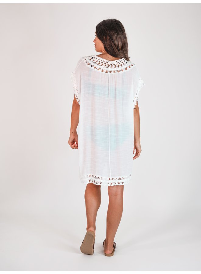 White Crocheted Cover Up