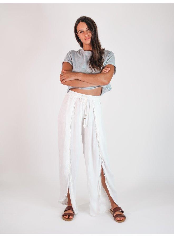 Beaded White Pants