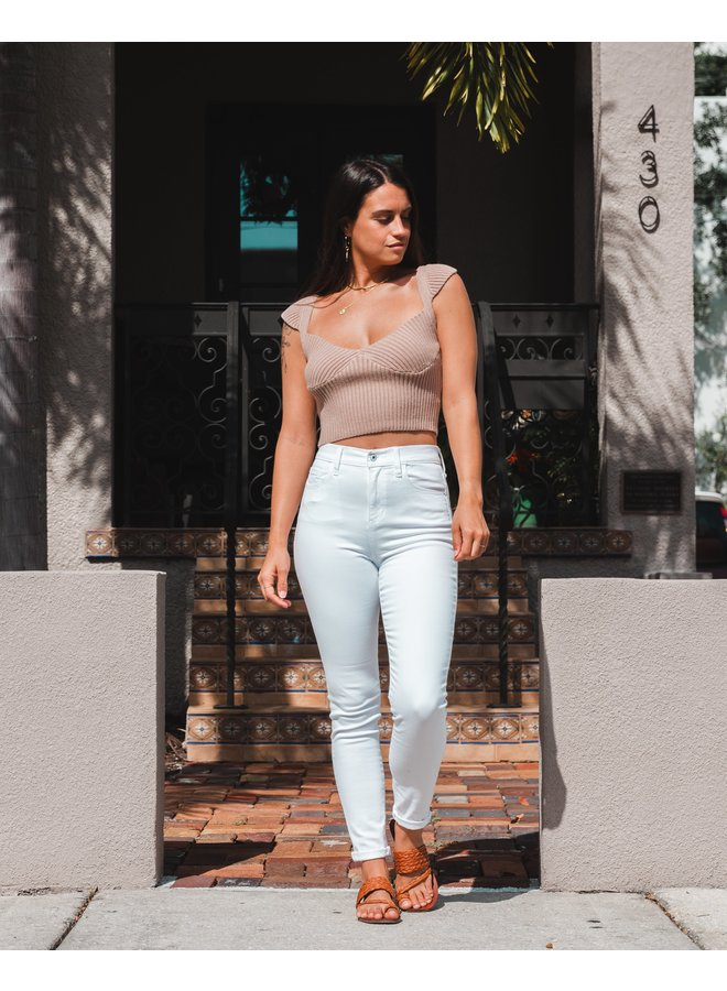 Driftwood Ribbed Crop
