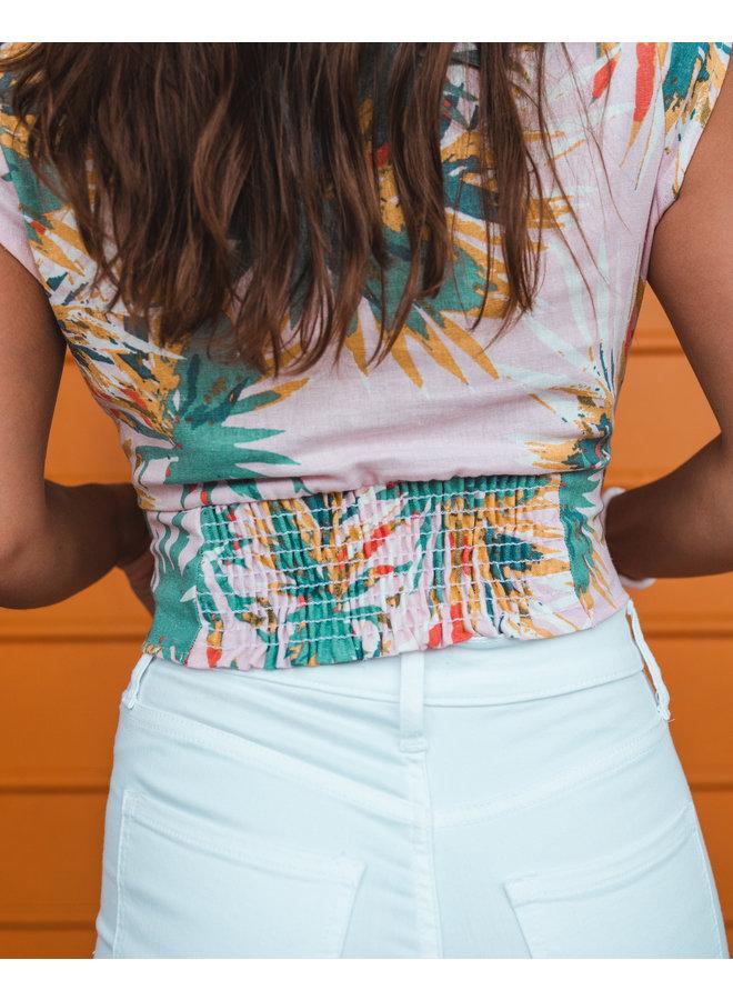Palm Wrap Crop Top