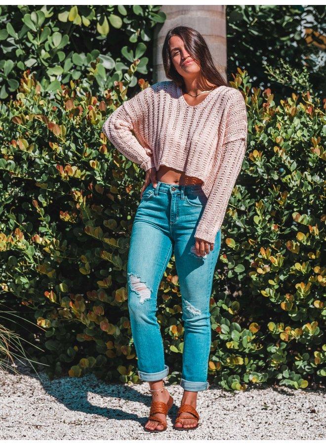 Sunny Bliss Blush Sweater